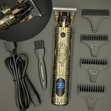 T машинка для стрижки волос Электрический триммер для волос Беспроводная Бритва триммер 0 мм для мужчин Парикмахерская Машинка для стрижки ...