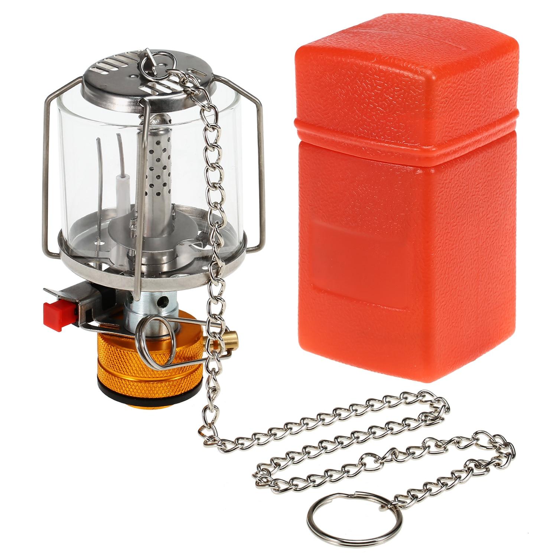Mini Gas Lamp Outdoor Camping Lantern Tent Lamp Torch Hanging Glass Lamp Mini Camping  Portable Gas Light Camping Equipment