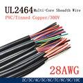1 м/5 м 28AWG UL2464 оболочке провод -канал аудио кабель для 2- 3-4-5-6-7-8-9 10 ядер утеплитель мягкий Медь сигнала Управление