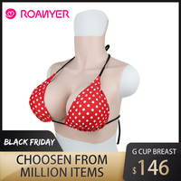 Roanyer silicone crossdresser large fake Boobs G Cup for transgender shemale False pechos breast forms crossdressing drag queen