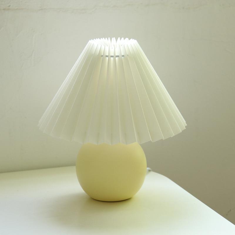 Europe Modern Ceramic Table Lamps Bedroom Desk Lamp Wood Rattan Stand Light Fixtures Standing Lighting Study Reading Home Decor