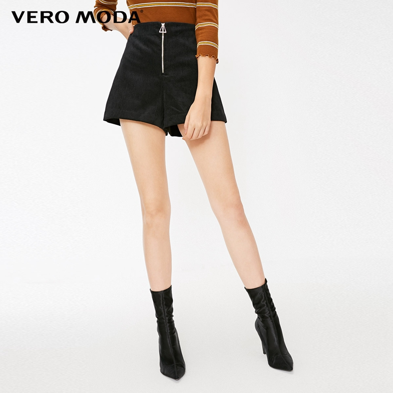 Vero Moda New Autumn Corduroy Decorative Zip High-rise Slim Fit Shorts | 318315516