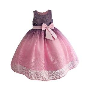 Image 3 - فستان حفلات رائع للبنات مطرز بالدانتيل فساتين زفاف للأطفال فستان سهرة رسمي للأطفال ملابس للبنات 3 10T
