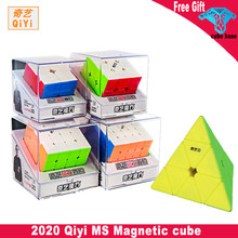 2020 Newest Qiyi MS Magnetic Series 2x2 3x3 4x4 5x5 Pyramid Magic cube stickerless speed cube Twisty Puzzle Educational Toys