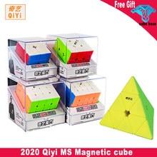 2020 yeni Qiyi MS manyetik serisi 2x2 3x3 4x4 5x5 piramit sihirli küp stickerless hız küp bükülen bulmaca eğitici oyuncaklar