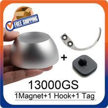 Магнитный съемник для гольфа, 13000GS, Универсальный Магнит для удаления этикеток + 1 ключ, съемный крючок, бирка + 1 сигнализация, система RF8.2Mhz EAS
