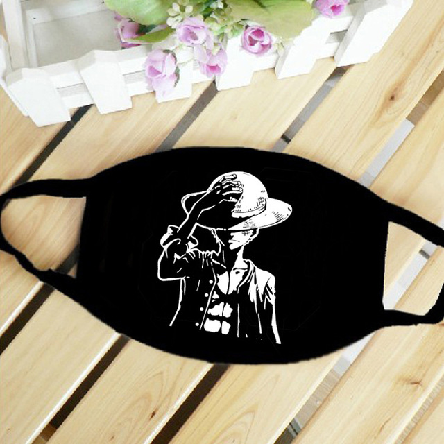 One Piece Skull Luffy Law Straw Hat Anime Mouth Face Mask Dustproof Breathable Women Men Cotton Riding Mask Fashion Accessories 1