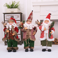 Christmas Decorations Santa Claus Doll High Grade Simulation of The Elderly Ornaments Toys Even Children Gift Window Props 70 Cm