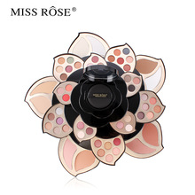 5 Layers Rotatable  Eyeshadow Blush Palette Cosmetic Lipstick Face Makeup Case with Mirror Glitter Eye Shadow Palette Maquillage