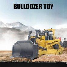 Настоящий 1700 1:50, металлический бульдозер, инженерный автомобиль, строительный автомобиль, инженерный трек, металлические игрушки для детей