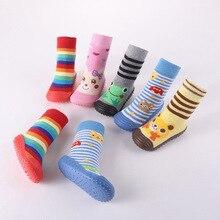 Newborn Anti Slip Baby Socks Warm Slip-resistant Floor Walking Kid's Infant Socks Boys Girls Winter Warmer Unisex for Children все цены