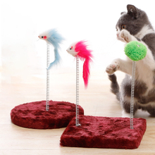 Colorful Mouse for Cat Pet Sisal Wear Resistant Durable Cat Tree Toys Amusement Interactive Cat Toy for Training Pet Supplies solid color wood wear resistant durable chew toys for pet cat amusement intelligent cat toys interactive pet supplies kitten