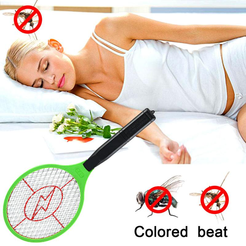 Operated Hand Racket Electric Mosquito Swatter Insect Home Garden Pest Bug Fly Mosquito Zapper Swatter Killer 2 AA Batteries
