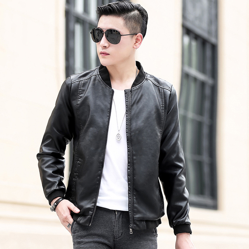New Style Leather Coat MEN'S Leather Jacket Casual Coat Korean-style Trend Slim Fit Handsome Youth Spring And Autumn