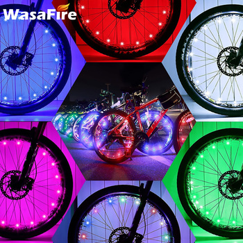 Wodoodporne wielokolorowe światła LED koło rowerowe jasne światła rowerowe Spoke opona rowerowa światła światło bezpieczeństwa akcesoria rowerowe tanie i dobre opinie Other 3*AAA battery