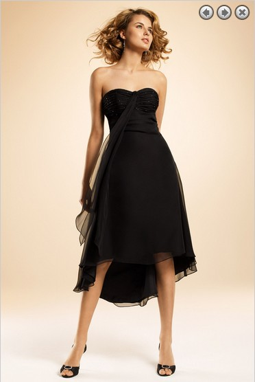 Free Shipping Dinner Dress 2013 New Fashion Party Gown Brides Maid Dress Formales Short Royal Black Beaded Bridesmaid Dresses