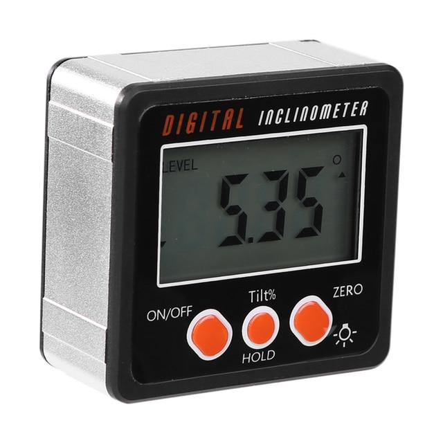 Фото новый электронный транспортир цифровой инклинометр 0 360 алюминиевый цена