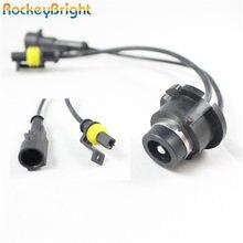 Rockeybright 2 sztuk zestaw przetwornica drutu Xenon D2S D2R D2C do AMP Adapter do wiązki kabli zestaw ksenonów światła kabel do samochodu D2S kabel pigtailowy