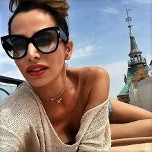 2020 occhiali da sole Donne Gradiente T di Modo Del Progettista di Marca Occhio di Gatto Donne Occhiali Da Sole Grandi Occhiali Oculos UV400 Nero Shades oversize oculos