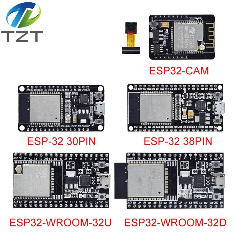 ESP32 макетная плата WiFi + Bluetooth сверхнизкой Мощность потребление двухъядерный ESP-32 ESP-32S ESP 32 ESP32-CAM ESP-WROOM-32