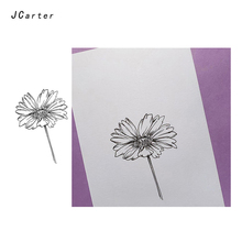 JC Clear Stamps Flowers Chrysanthemum Rubber Silicone Stamp Scrapbooking for Card Making Craft Decoration Tool New 2019