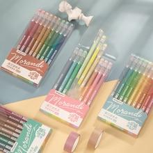 Yoonfun 9pcs/set 0.5mm Morandi Color Cute Gel Pen Kawaii Mark Pen for Scrapbooking Journal Office School Student Supply