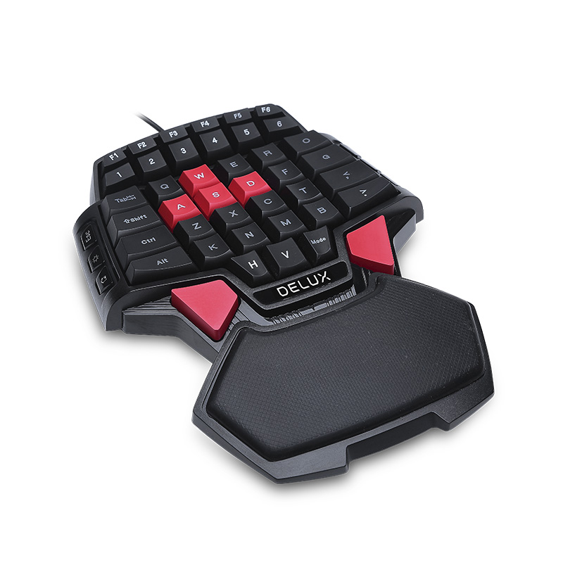 Image 3 - Delux T9 Wired Single handed Gaming Keyboard Ergonomic Design Single handed keyboard Gamepad  gaming keypadKeyboards   - AliExpress