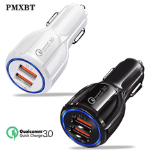 Quick Charge QC 3.0 Car Charger For Mobile Phone Dual Usb 5V/3.1A Fast Charging Adapter Mini Usb For iphone 11 Samsung S9 Xiaomi dual usb quick charge qc3 0 car charger for iphone xiaomi pocophone f1 huawei samsung mobile phone fast charging adapter in cell