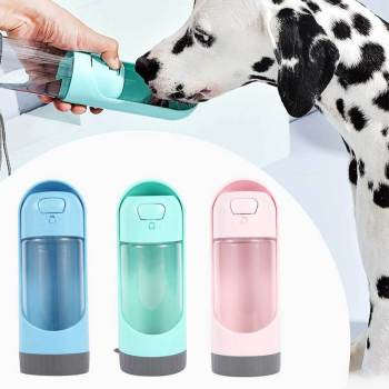 Portable Pet Dog Water Bottle 300ml Drinking Bowl for Small Large Dogs Feeding Water Dispenser Cat Dogs Outdoor Bottles 1