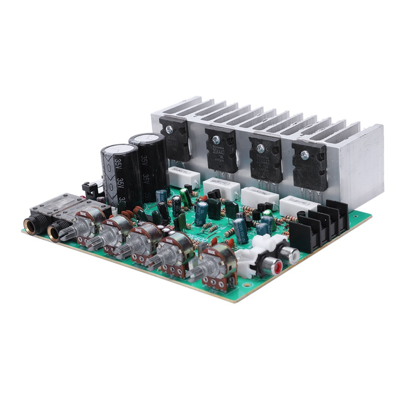Audio Amplifier Board Hifi Digital Reverb Power Amplifier 250W X 2 2.0 Audio Preamp Rear Amplification With Tone Control E3-004