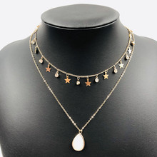 Creative crystal women layered necklace crystal pendant fashion chain love necklace Birthday gift for girls недорго, оригинальная цена