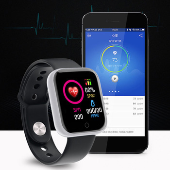 Bluetooth Y68 Smart Uhr Frauen Fitness Tracker Wasserdicht Heart Rate Monitor Männer Sport Smart Uhr GPS Armband IOS Android image