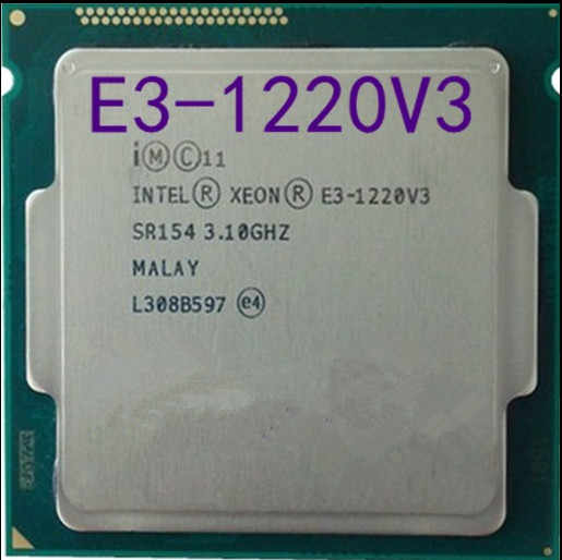Intel Xeon E3-1220 V3 E3 1220 V3 3.1GHz 8MB 4 Core SR154 LGA1150 Processore CPU