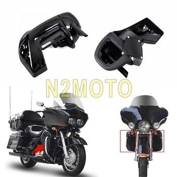 Motorcycle Lower Vented Leg Fairing Glove Box Hardware for Harley Touring Road King Electra Street Glide FLHT FLHR FLHT 83-12