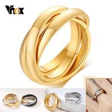 Vnox элегантный блокировать круг для женщин кольцо Классический