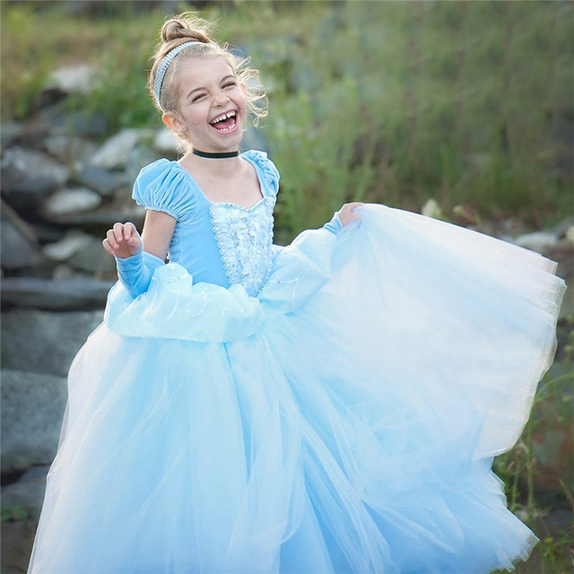 Girls Princess Dress for Kids Cosplay Costume Halloween Party Dresses Role-play Clothes Girls Vestidos Clothing 6