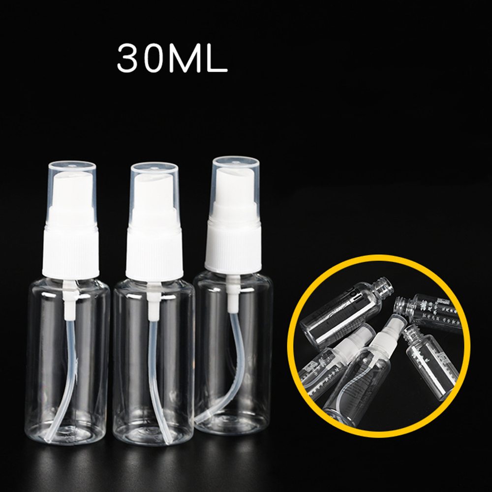 30ml Empty Spray Bottle Travel Plastic Perfume Atomizer Pump Bottles Makeup Spray Container Women's Makeup Accessories