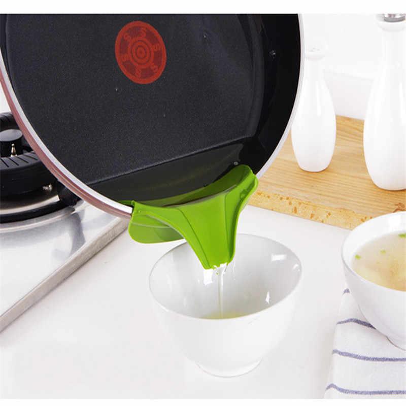 Kreatywny lejek Anti-spill podkładka silikonowa na lejek do wylewania zupy do garnków patelnie i miski i słoiki przyrząd kuchenny narzędzie