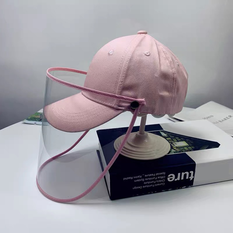 Children Anti-spitting Protective Hat Summer Solid Color Baseball Protective Cap Anti-spitting Protective Hat Removable(China)