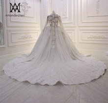 Amanda Design Veil One Layer Handwork Custom Made Luxury Pearls wedding Veil