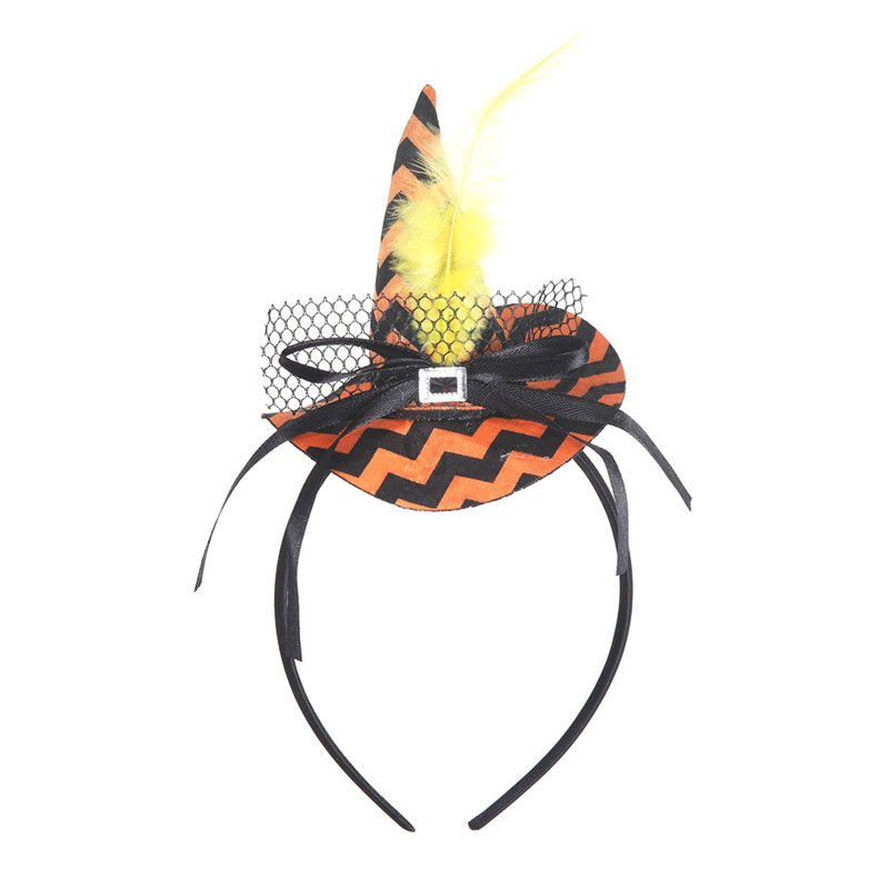 New Mini Witch Hat Headband Halloween Headbands For girls Fancy Dress Props Cosplay Party Gifts Headwear Kids 30Jul3107