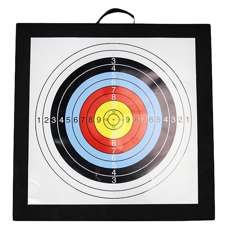 Archery Target High Density  Foam Shooting Practice Board Outdoor Sport Hunting Accessories RecurveCrossbow 50x50x5cm Black