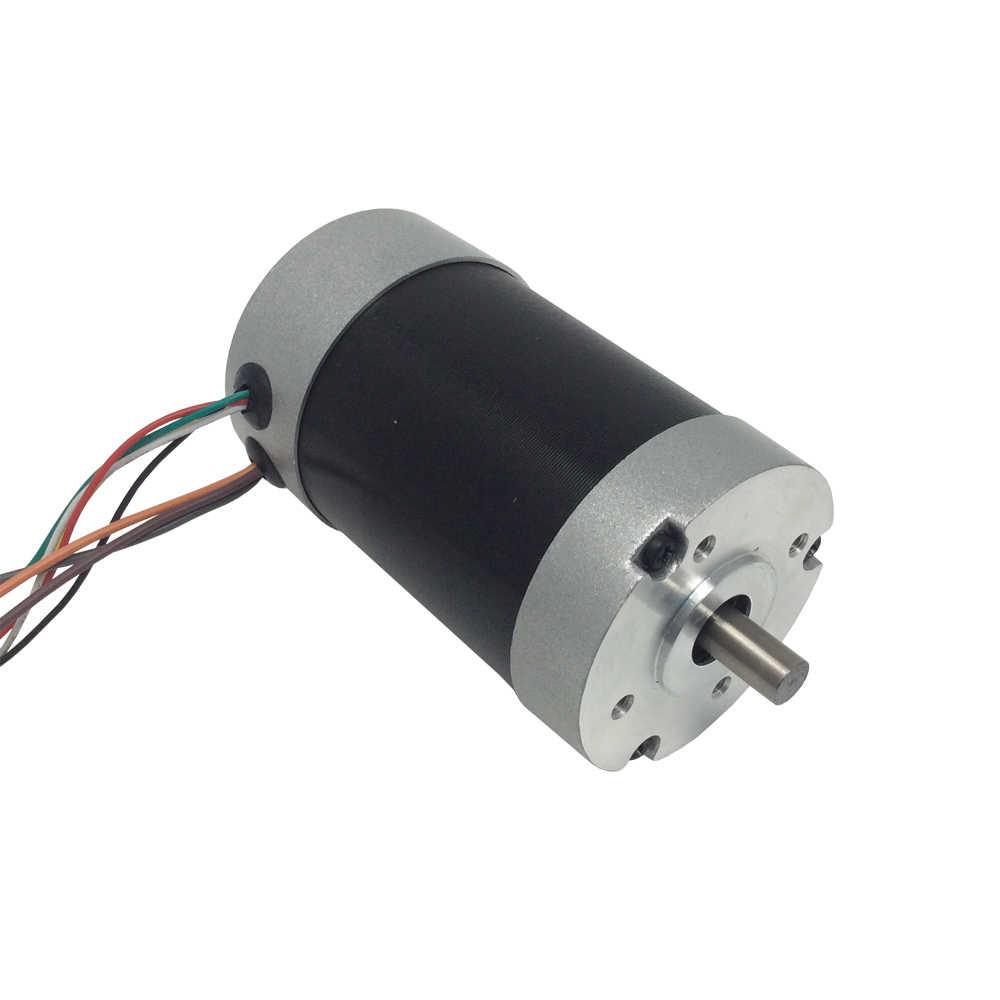 Moteur sans brosse cc BLDC 24 V diamètre 94mm 24 volts Mini moteur sans brosse électrique cc 3000 tr/min 101W 6.5A 0.36N.m couple moteur à courant continu