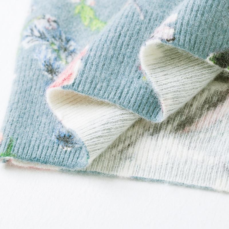 Image 4 - YISU Printed sweater Women 2019 Autumn Winter Sweater Fashion  Floral bird pattern Pullover Casual Loose long Sleeves  sweaterPullovers