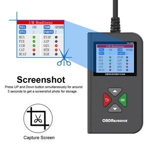 Image 4 - YA206 OBDII קוד Reader מנוע כבוי אור רכב אבחון כלים חיים משלוח החדש 12V OBD2 רכב סורק pk elm327