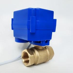 "Image 4 - 1/2"" Electric valve Brass, AC/DC9 24V electric motor valve with 2 wires(CR04), DN15 Electric valve With power off return"