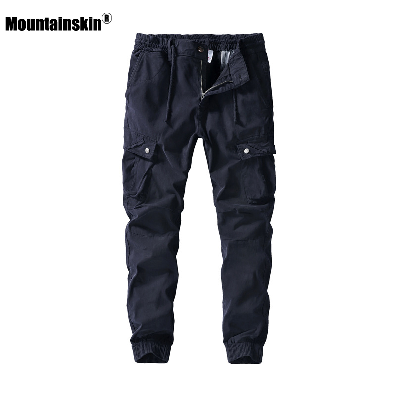 Mountainskin New Men's Trousers 2020 Spring Men Casual Cotton Fashion Pockets Cargo Pants Loose Sports Jogging Pants Male SA908