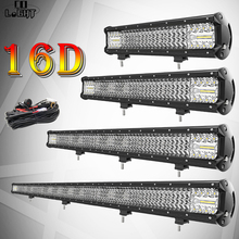 CO LIGHT 16D 12 15 20 29 44 4-Row 4x4 LED Work Light Bar Combo Offroad for Tractor Boat 4WD Car Truck SUV ATV