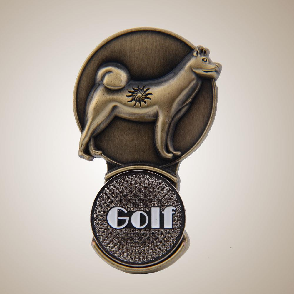 China Chinese Zodiac Dog Outdoor Magnetic Golf Ball Marker Hat Clip Clamp