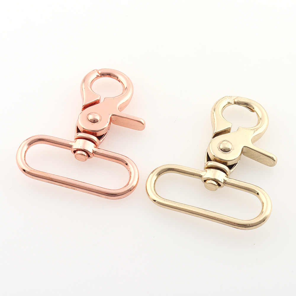 "Keychains Lanyards Connector Rose Gold Color 1.5/"" Swivel Lobster Clasps"